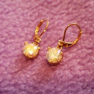 Kate spade Rise and Shine ab crystal earrings